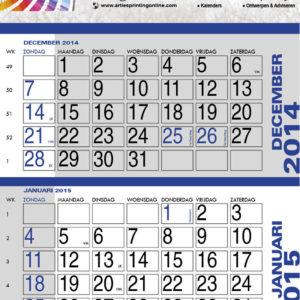 8c. Wandkalender met 12 scheurblaadjes